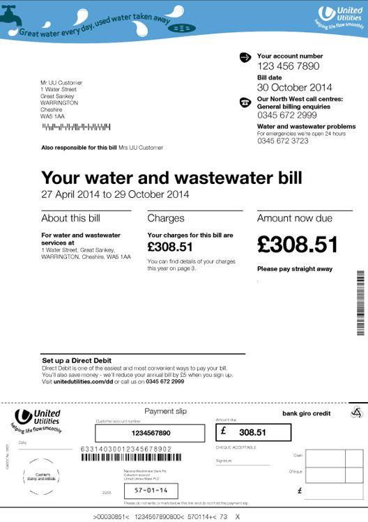 water bill page 1 bill design pinterest. Black Bedroom Furniture Sets. Home Design Ideas