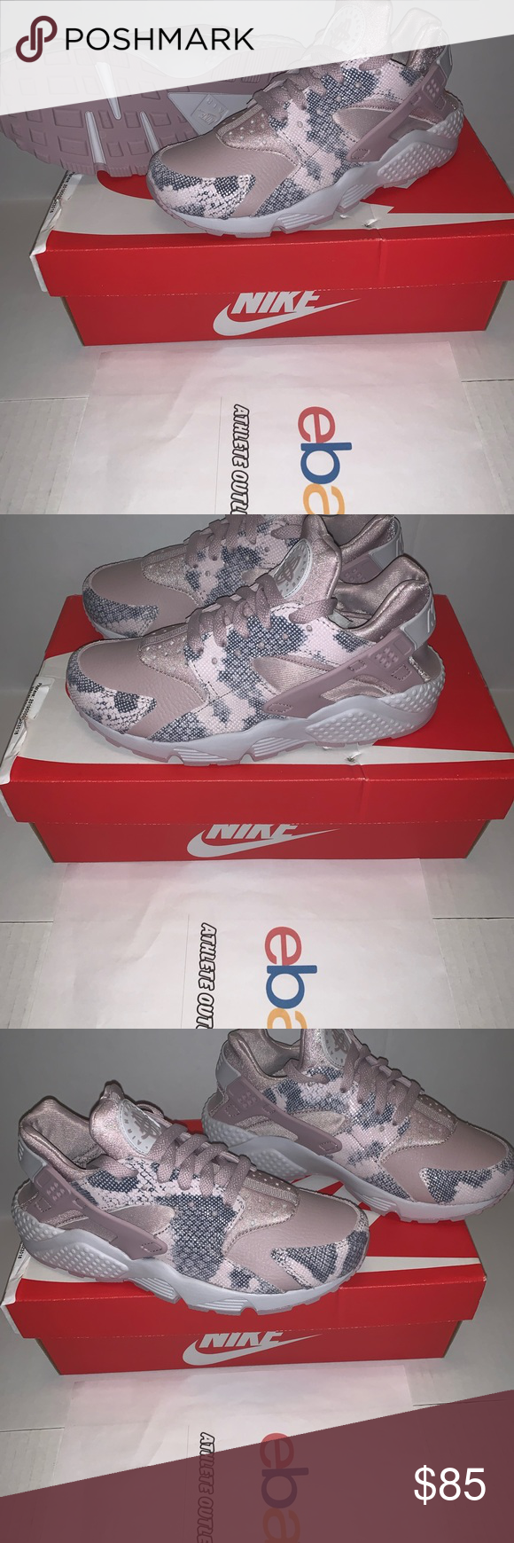 695689450d4e New Womens Nike Air Huarache Run Rose Pink Size 7 New! Womens Nike Air  Huarache Premium