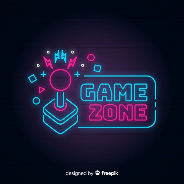 Neon Lights Vintage Gaming Logo