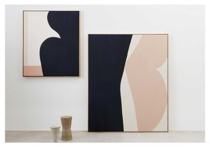 First Look Caroline Walls' minimalist painting collection inspired by the female form is part of Minimalist painting, Female form art, Minimalist art, Abstract painting, Abstract art, Modern painting - See inside the Australian artist's new exhibition at Modern Times