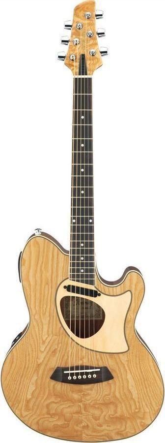 ibanez tcm50 nt talman series double cutaway acoustic electric guitar natural axe me. Black Bedroom Furniture Sets. Home Design Ideas