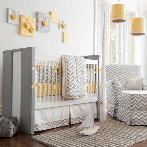 Deco Chambre Chevron Gris Et Jaune Baby Room Deco Chambre Bebe