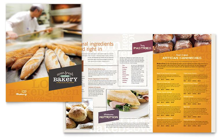 Click to download a full-size preview PDF Bakery Pinterest - microsoft word restaurant menu template