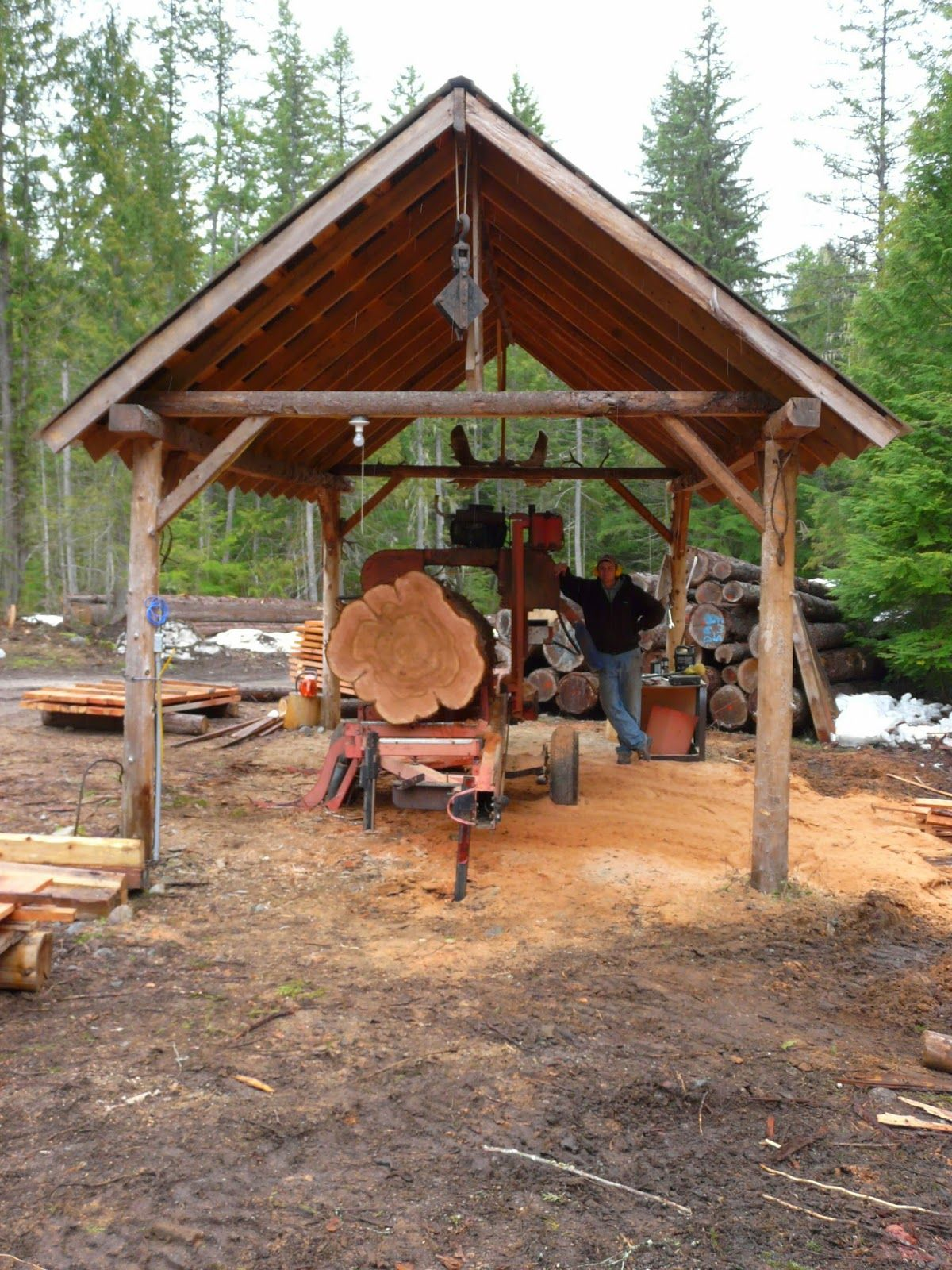 Wood Mizer Llc Building A Home With A Wood Mizer