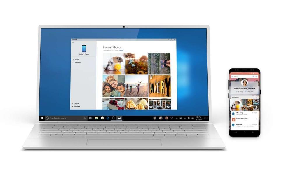 Microsoft Your Phone app available already on Windows 10