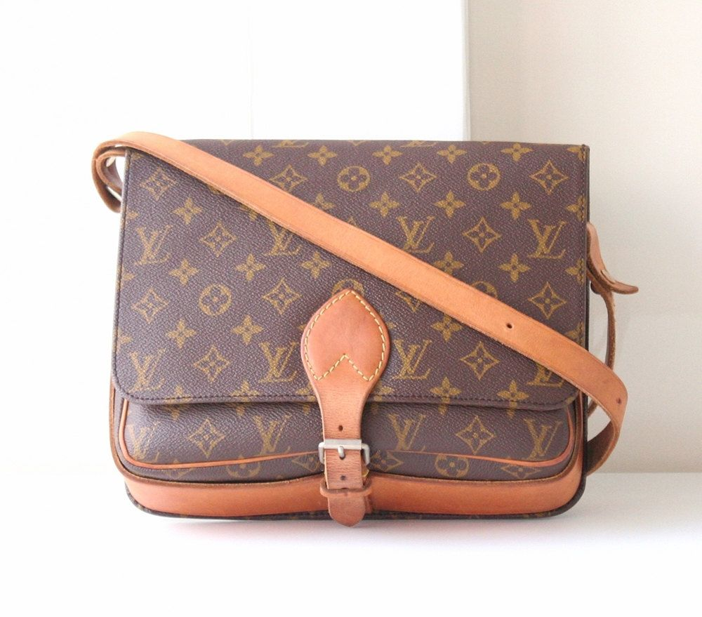 2237bd1969b7 Louis Vuitton Monogram Cartouchiere GM vintage Shoulder Crossbody Handbag  by…