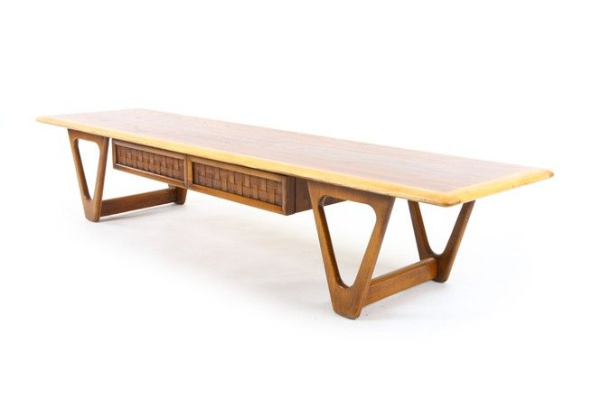 Lane U0027Perceptionu0027 V Leg Coffee Table   Mr. Bigglesworthy Designer Vintage  Furniture Gallery