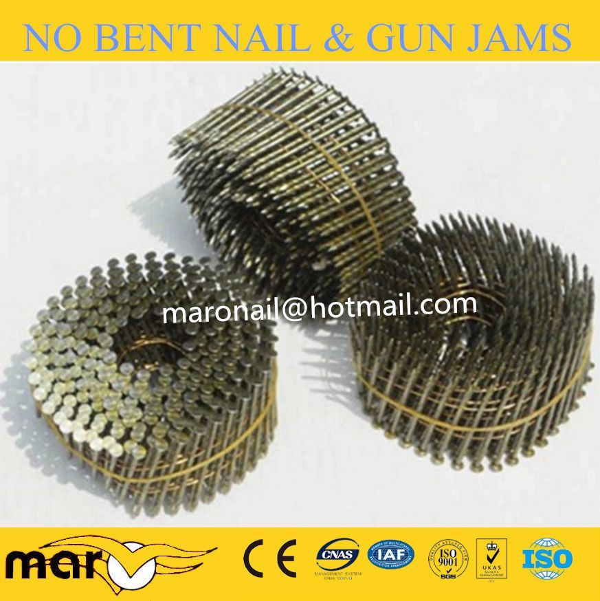 Yellow Coated Coil Nails Yellow Coat Coil Roofing Nails