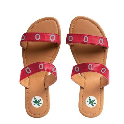 Women's Ohio State Buckeyes Double-Strap Sandals