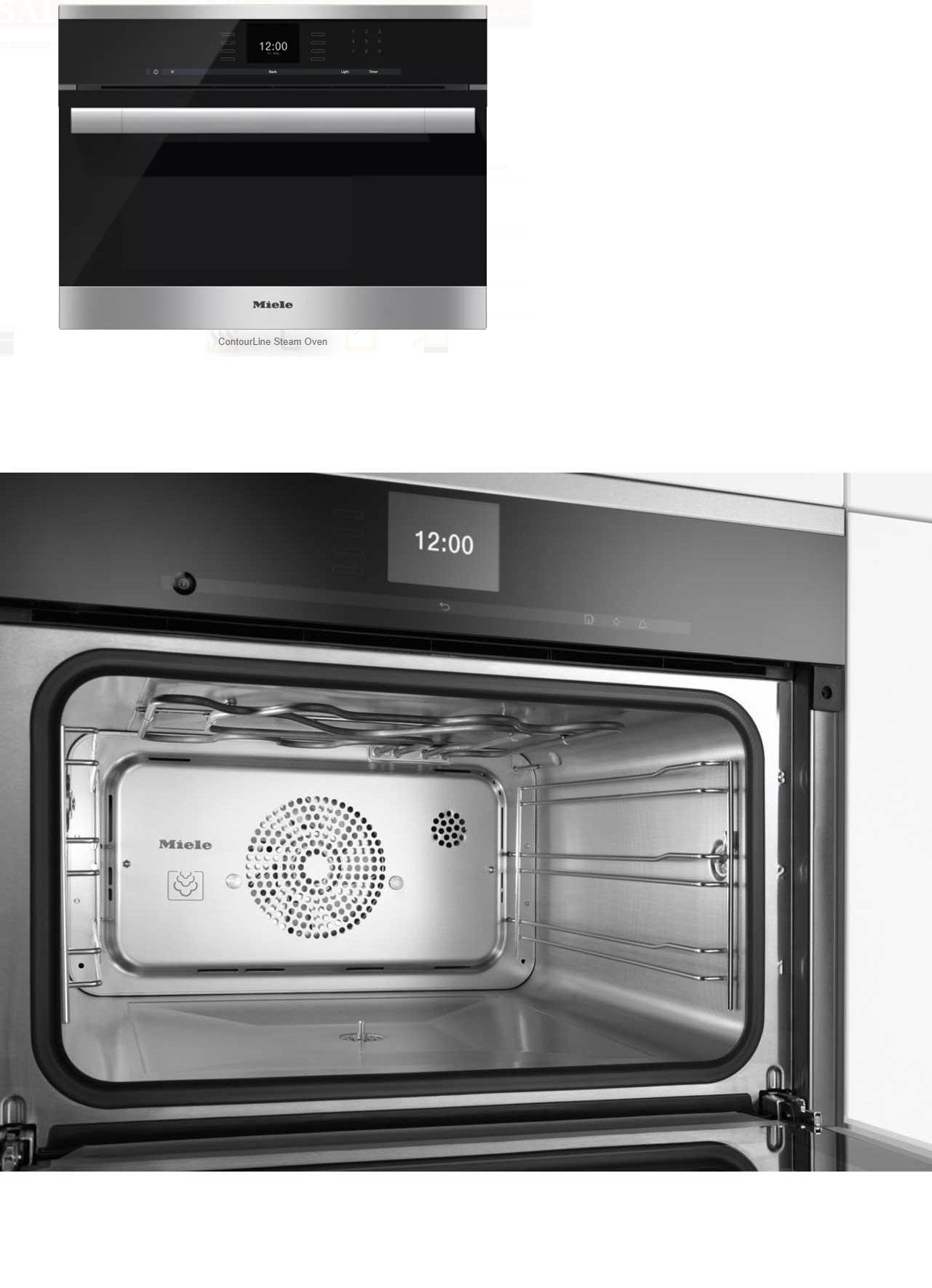 Wall Ovens 71318 Miele Contourline Sensortronic Series Dg6500 24 Inch Single Electric Oven It Now Only 2261 On Ebay