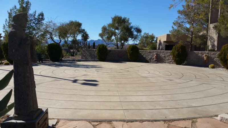 Chartres Labyrinth At St Andrews Church Boulder City Nv Near Las Vegas Labyrinth Chartres Boulder City