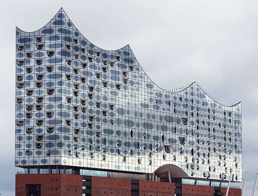 Architectural inspiration The rippling glass roof of the