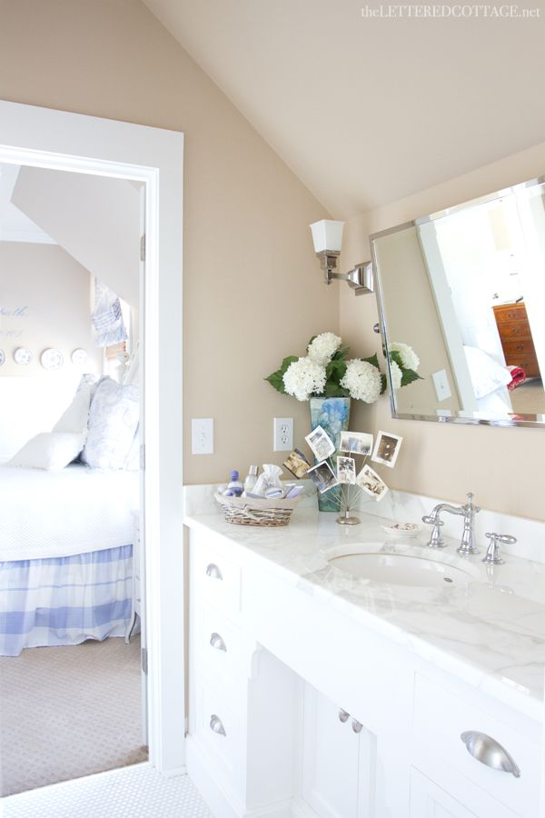 Jack and jill cottage bathroom marble counter the - Jack and jill style bathroom ...