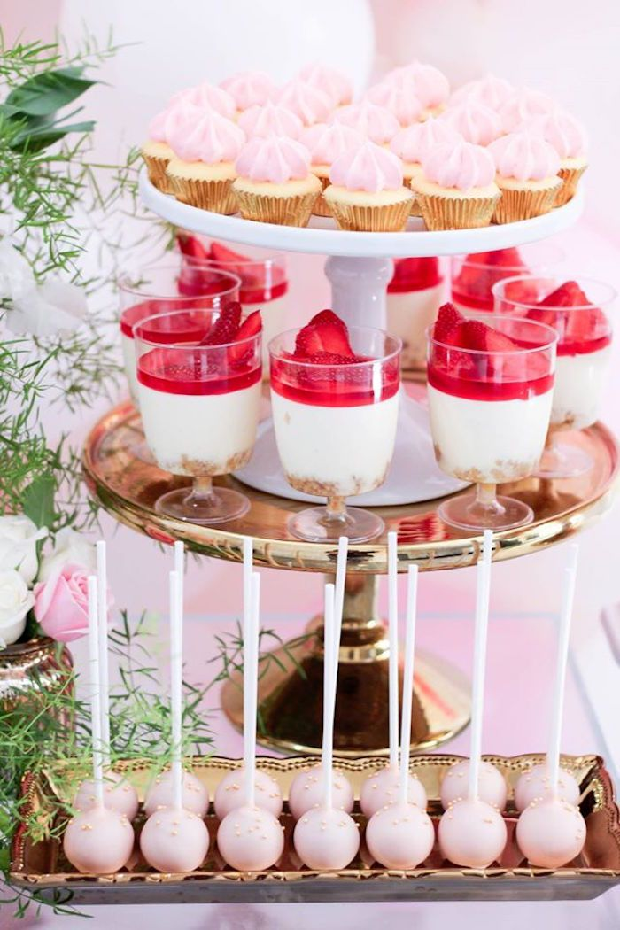Pink White Gold Garden Party Pink Party Snacks Pink