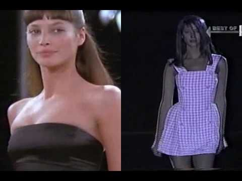 Christy Turlington on the Catwalk, I really miss the days of 90's supermodels, so sick of looking at emaciated 12 year olds  prancing in Chanel.