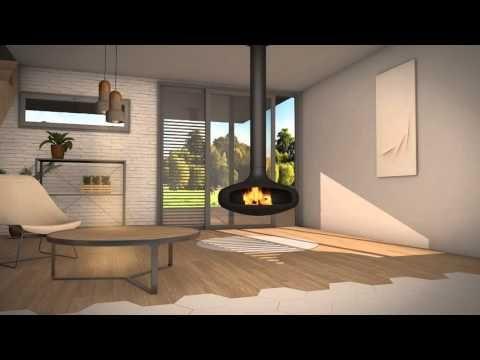 DOMOFOCUS Kamin Pinterest Hanging fireplace and Fireplace design