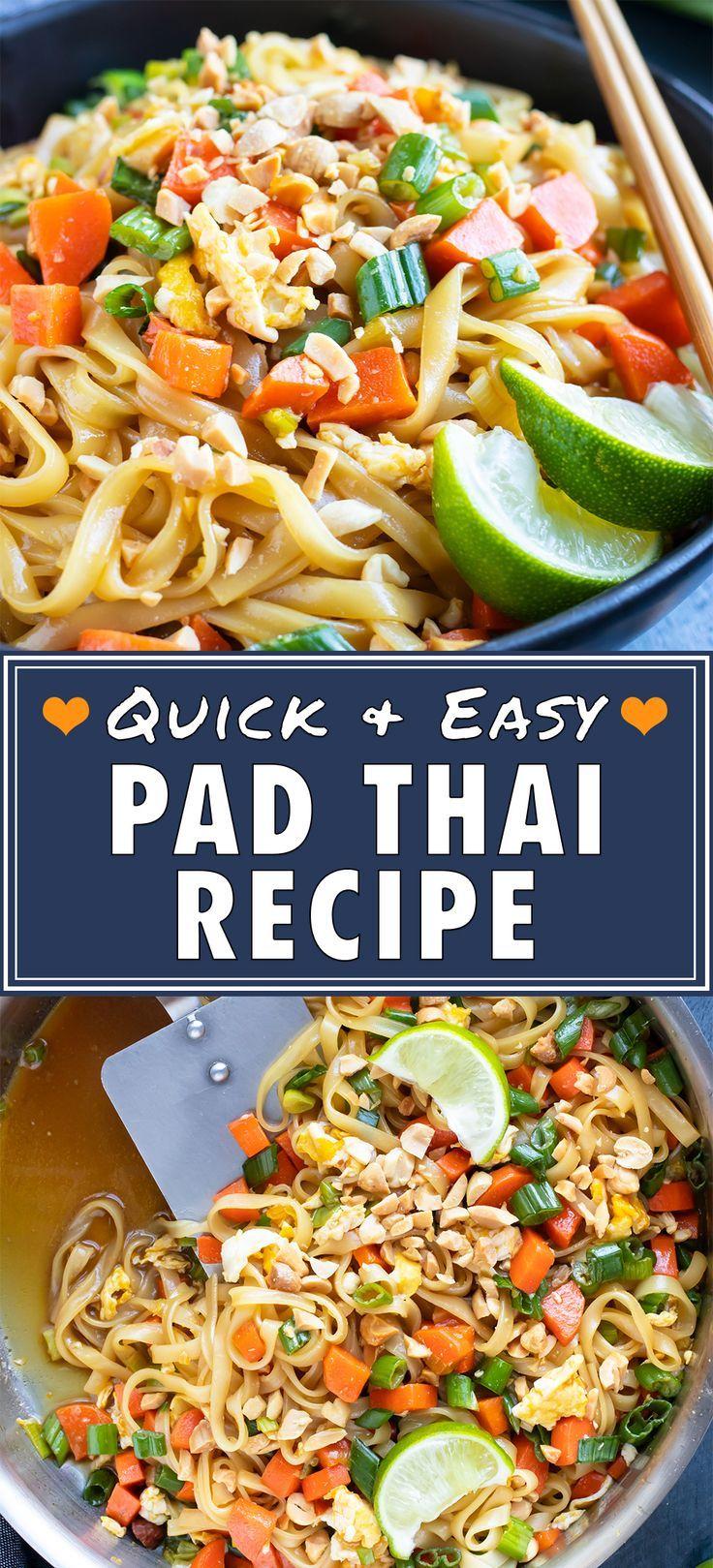 Easy pad thai recipe food recipes vegetarian entrees