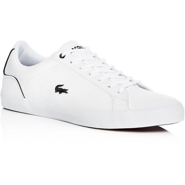 NEW Lacoste Men/'s Lerond Fashion Lace Up Casual Sneakers Fashion Leather Shoes