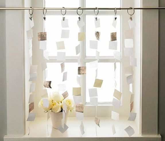 Paper Curtains Cut Up Your Favorite Book Or Inspirational