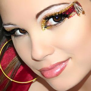 cherokee indian xotic eyes  eye makeup kits glitter eye