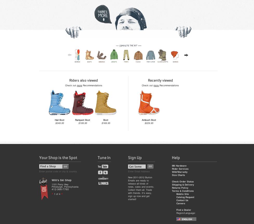 Burton the footer alone sells me amazing site web design