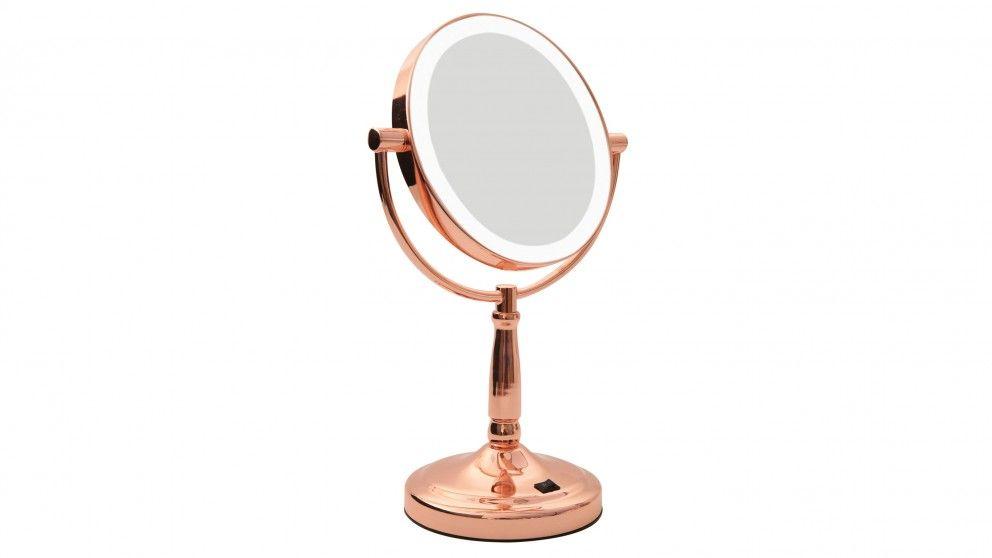 Homedics Led Vanity Mirror Rose Gold Beauty Beauty Massage