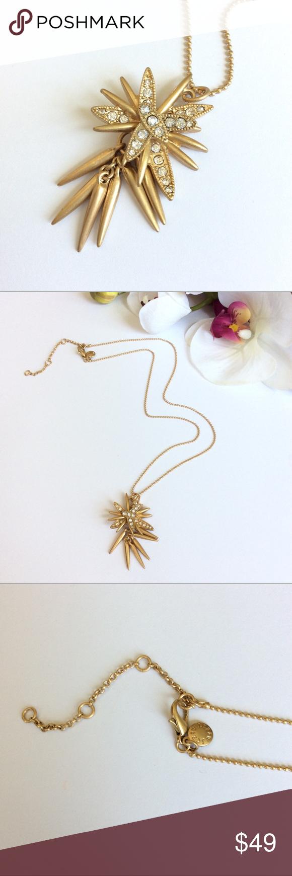 Salej crew starbursts gold pendant necklace boutique gold