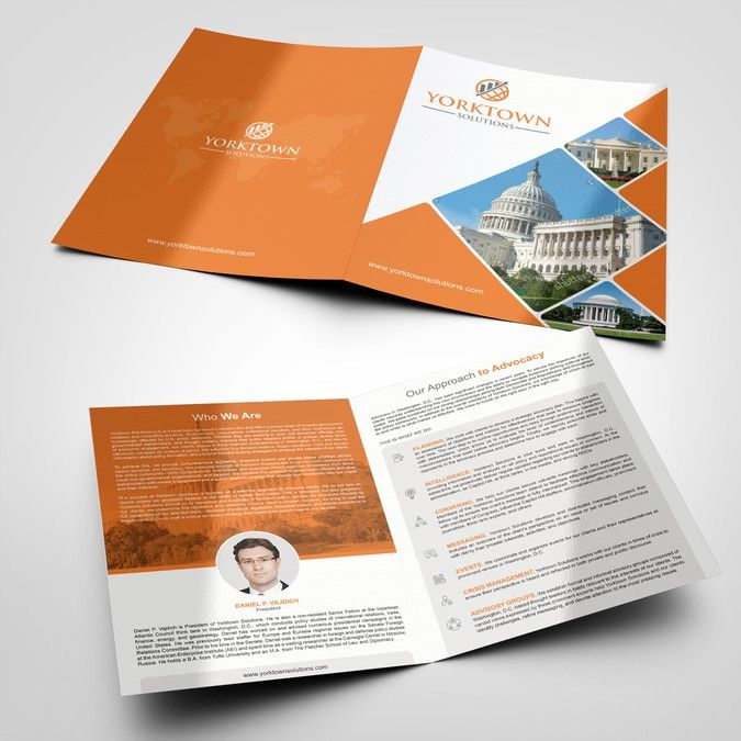 Brochure for Washington DC lobby and political risk firm by - political brochure