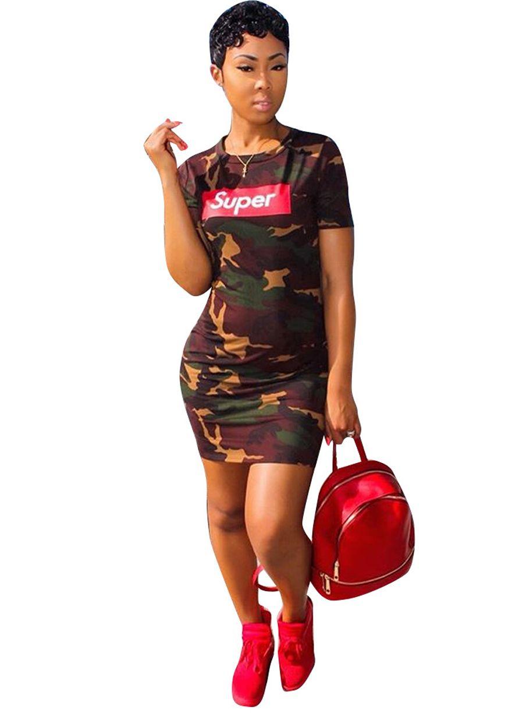 SUPER Short Sleeve Camo Print Dress | Fashion Dress | Pinterest ...
