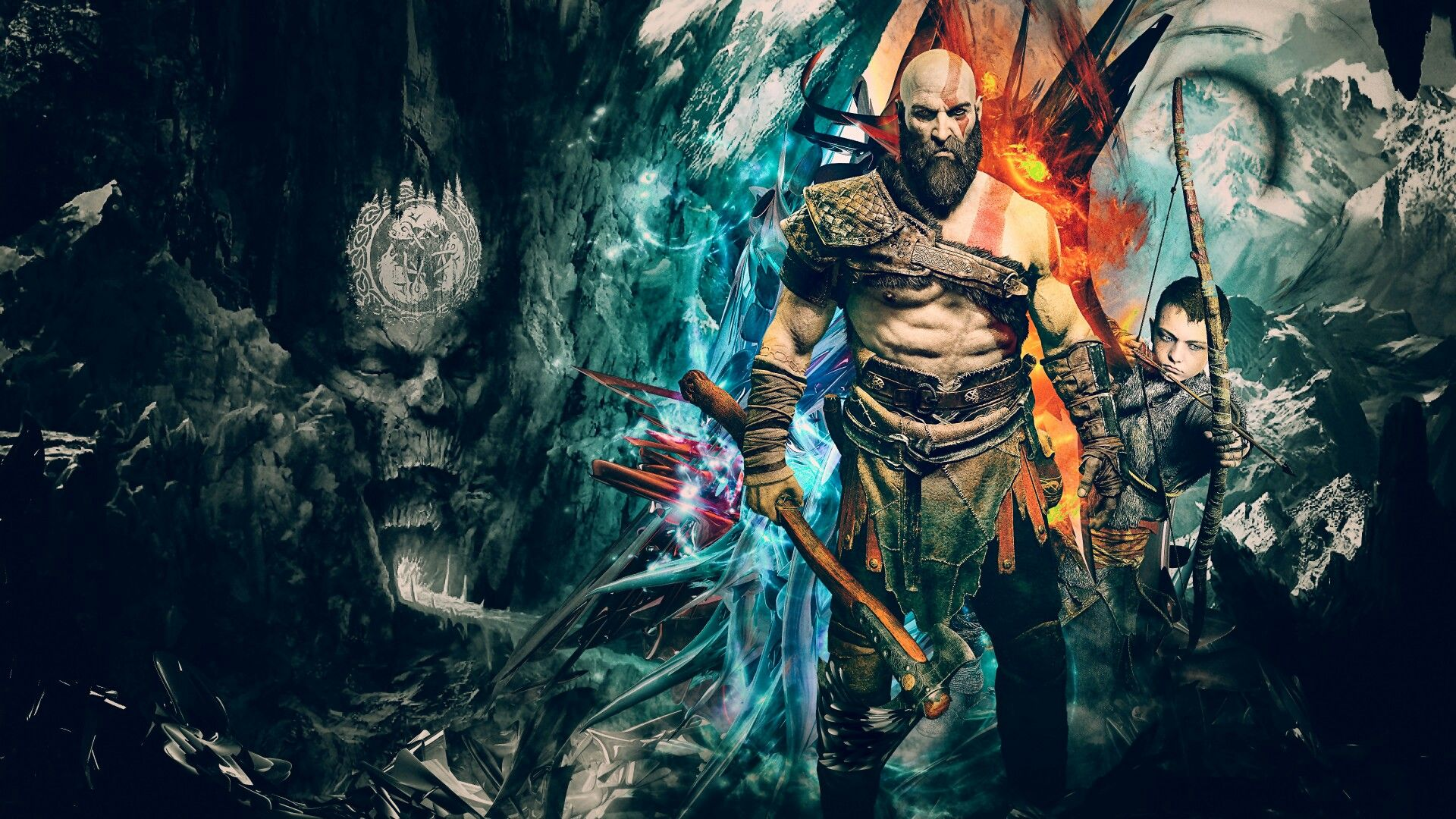 Pin By I M All Yours On Gwd Wғ Shdr Kratos God Of War God Of War 3840x2160 Wallpaper
