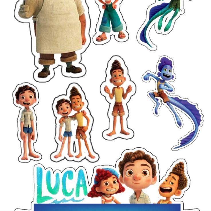 Topo De Bolo Luca Disney Com Tags Em 2021 Disney Para Imprimir Disney Disney Pixar