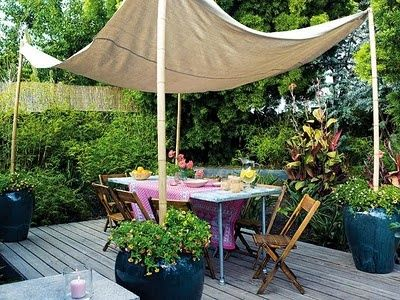 Genial This Might Be The Way To Get My Canopy Into My Back Yard. Fill Cheap Ikea  Flowerpots Way With Cement And A Pole. Nice Because You Donu0027t Have To Tear  ...