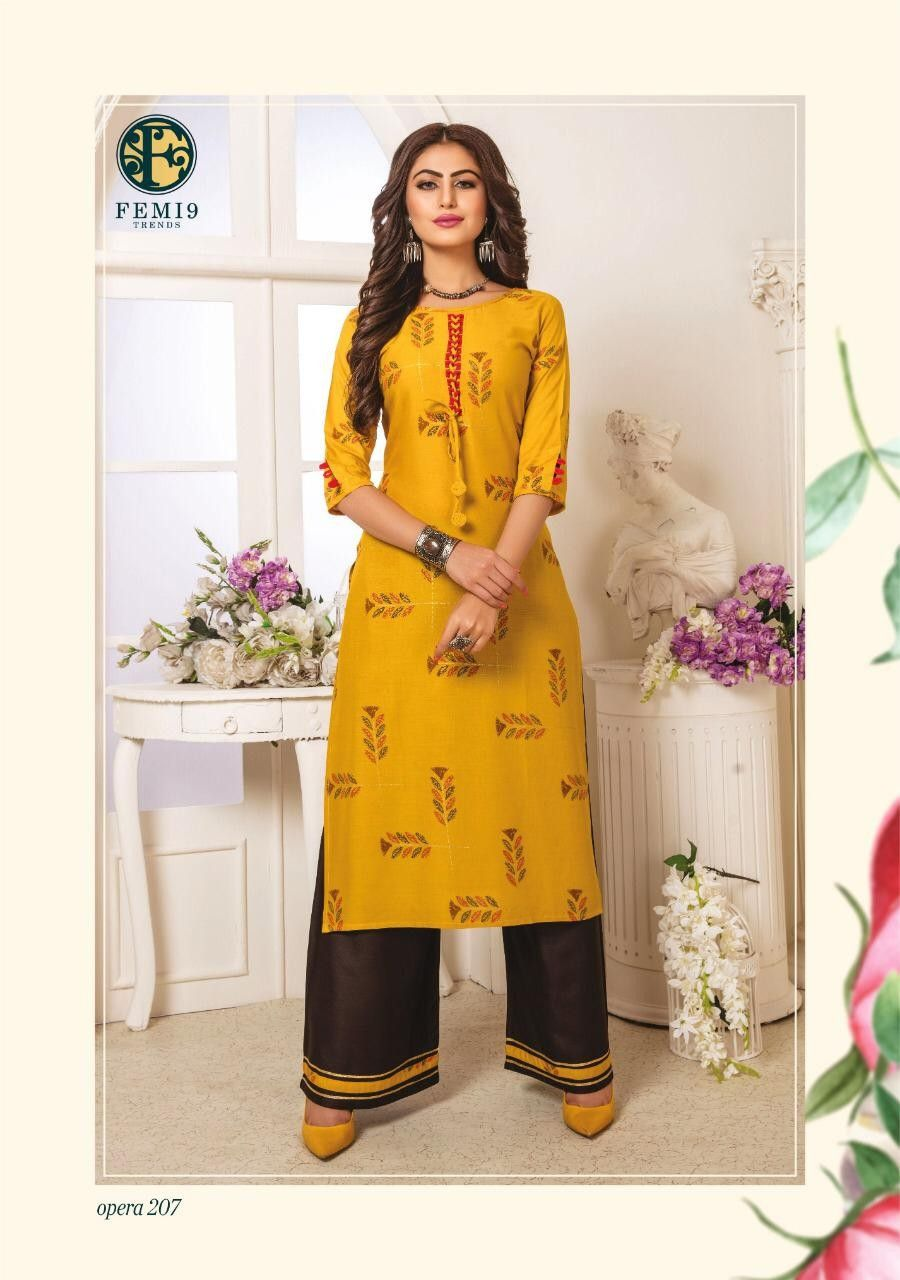 Order Femi 9 Kurtis 1060 On Whatsapp Number 919619659727 Or Artistryc In Dress Materials Dress Salwar Kameez Saree Designs