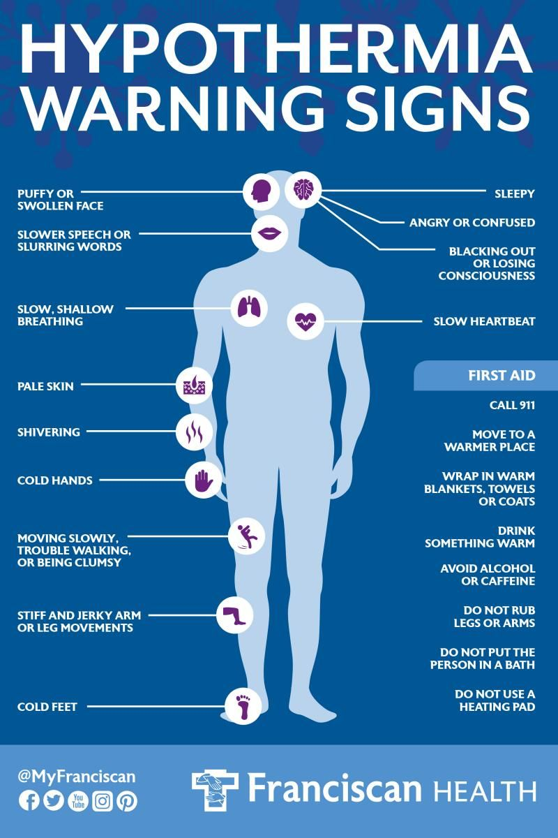 Hypothermia is an abnormally low body temperature (usually
