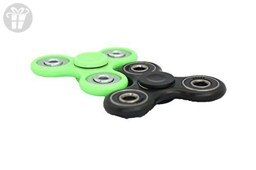 Fid Spinner 2 PACK Black Neon Green ABS Plastic CONCAVE