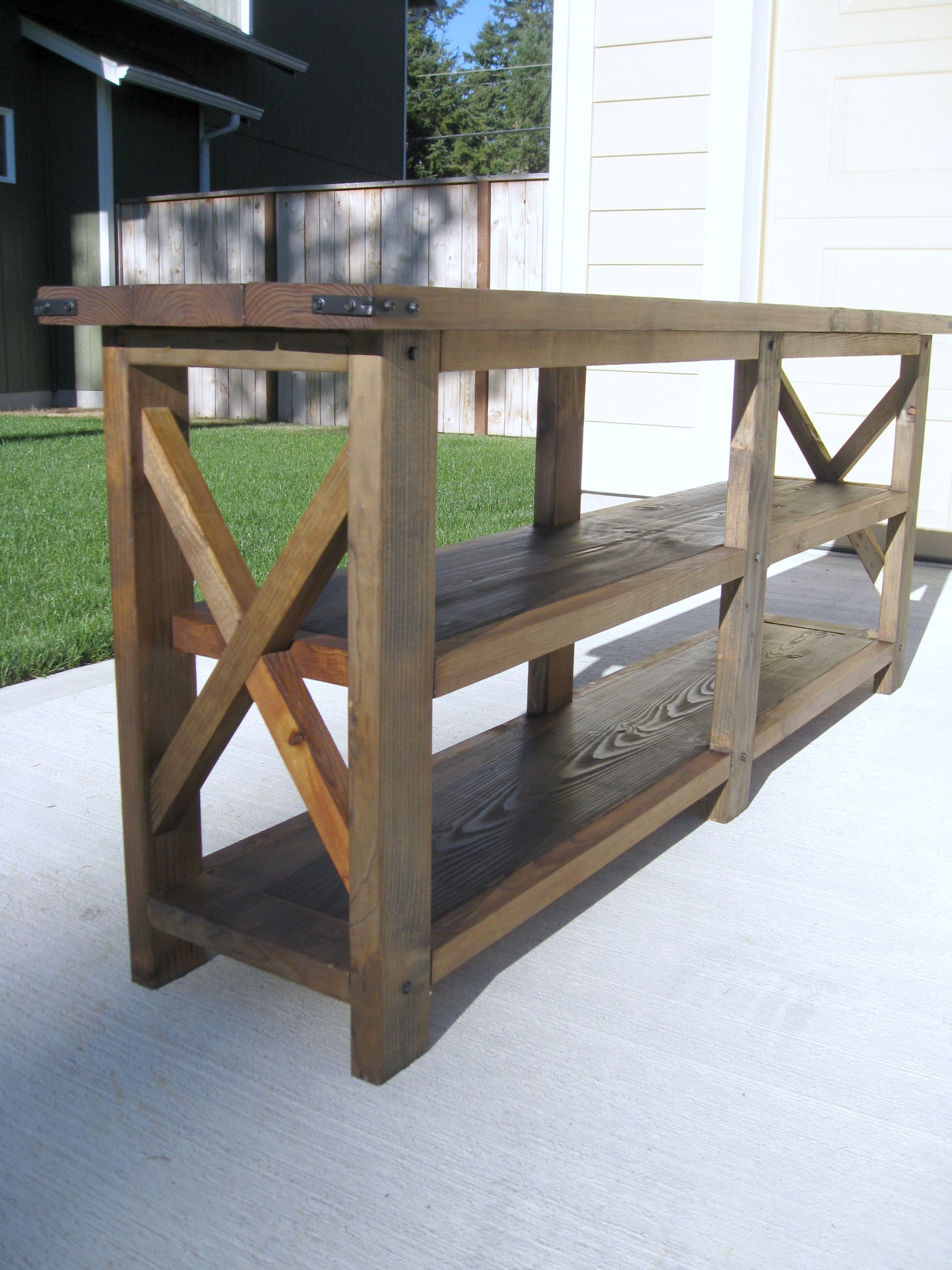 Make A Rustic Sofa Table Sectional Sofas Kijiji Barrie Diy X Console Do It Yourself Home Projects From Ana
