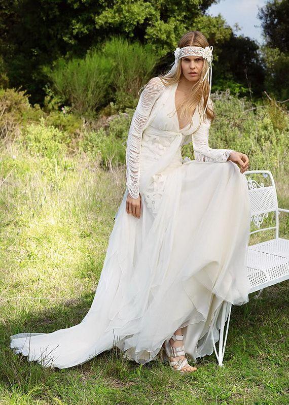 Afbeeldingsresultaat voor hippie chic wedding dress | Bohemian ...