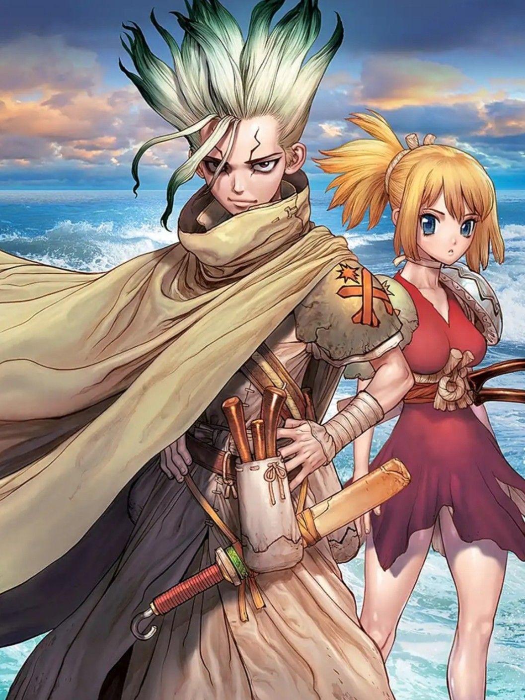 Drstone In 2020 Stone World Anime Films Stone Art