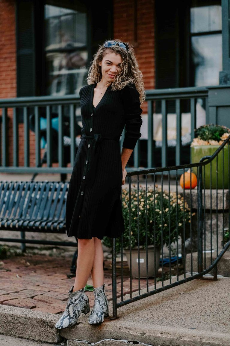 Chic On A Budget 3 Luxe Looks From Walmart My Chic Obsession Chic Clothing Style Black Sweater Dress Outfit Sweater Dress Outfit [ 1152 x 768 Pixel ]