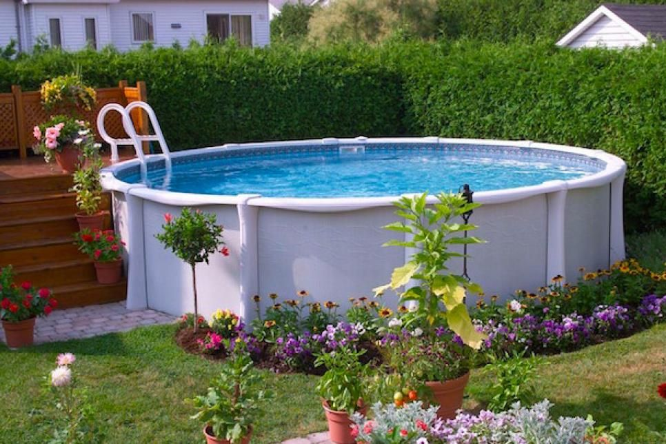 17 Ways to Pretty-Up an Above-Ground Pool | Swimming pools ...