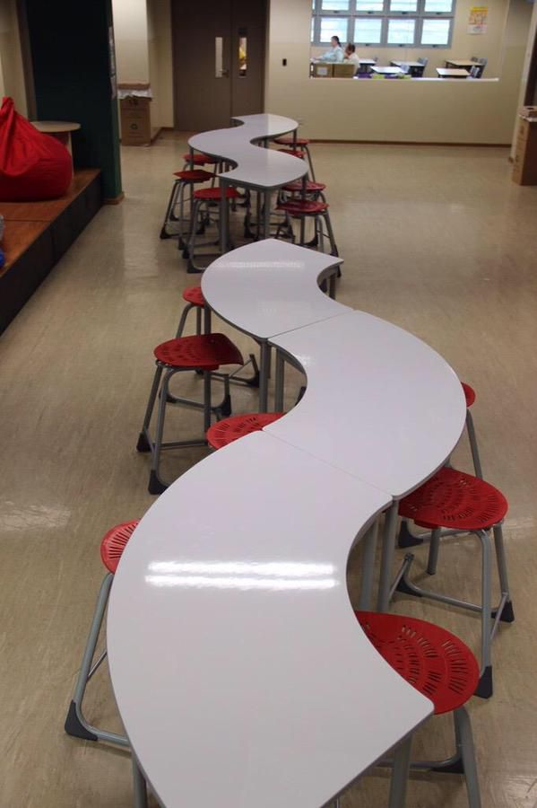 Classroom Table Design ~ Reimagine learning spaces curved desks