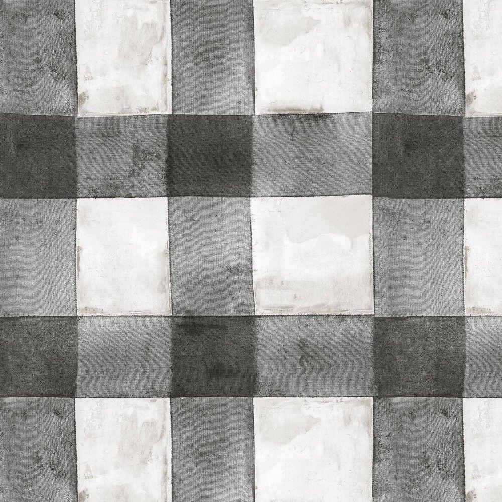RoomMates Buffalo Plaid Peel & Stick Wallpaper Black/White