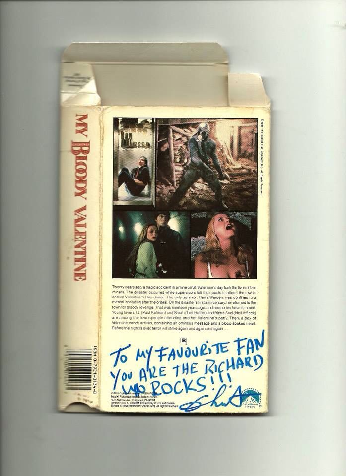 My Bloody Valentine 1981 Vhs Signed By Director George Mihalka To The Richard 3 Creepy Collectibles Ii Horror Movies Movies Und Horror
