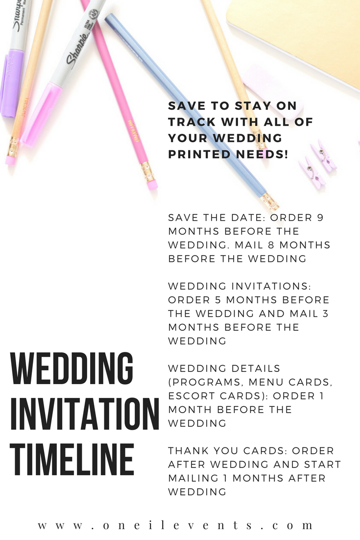 DIY Wedding Invitations - Easy to Follow Wedding Invitation Timeline ...