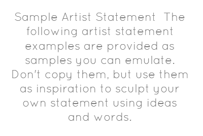Sample Artist Statement The Following Artist Share As Image Artist Statement Examples Artist Statement Art Classroom Organization