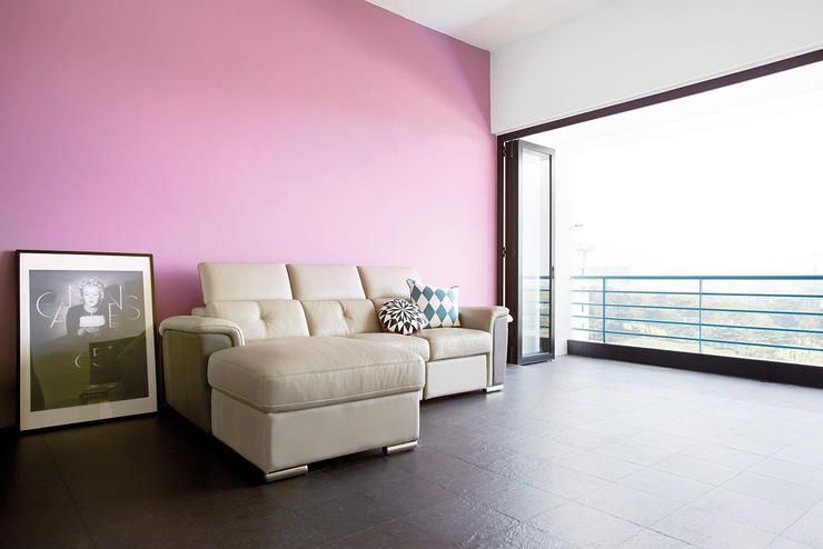 Pink minimalist living room | Pink Living Rooms | Pinterest ...