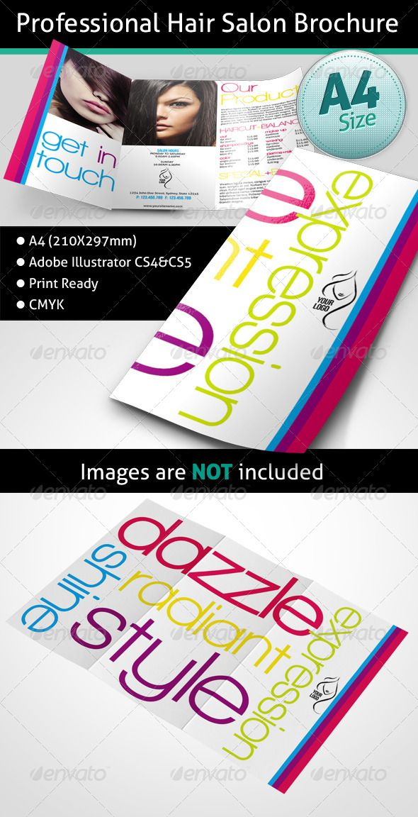 Professional Hair Salon Brochure  Design Inspiration