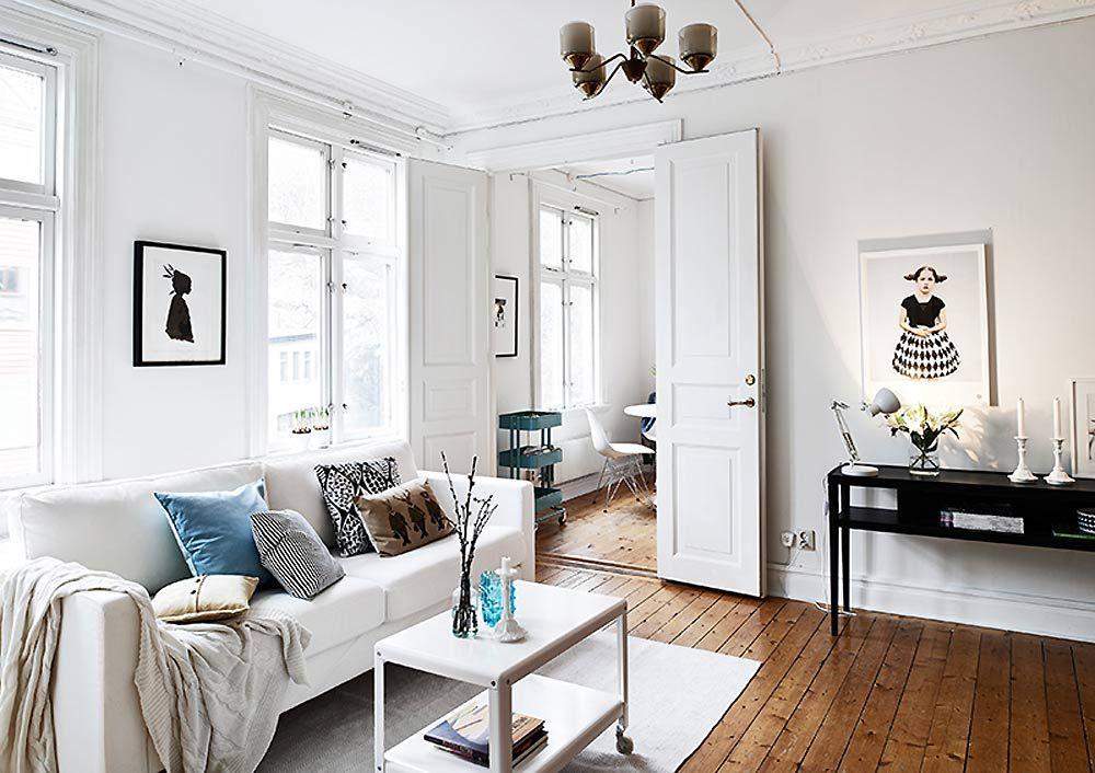 white scandinavian house interior home bedroom living