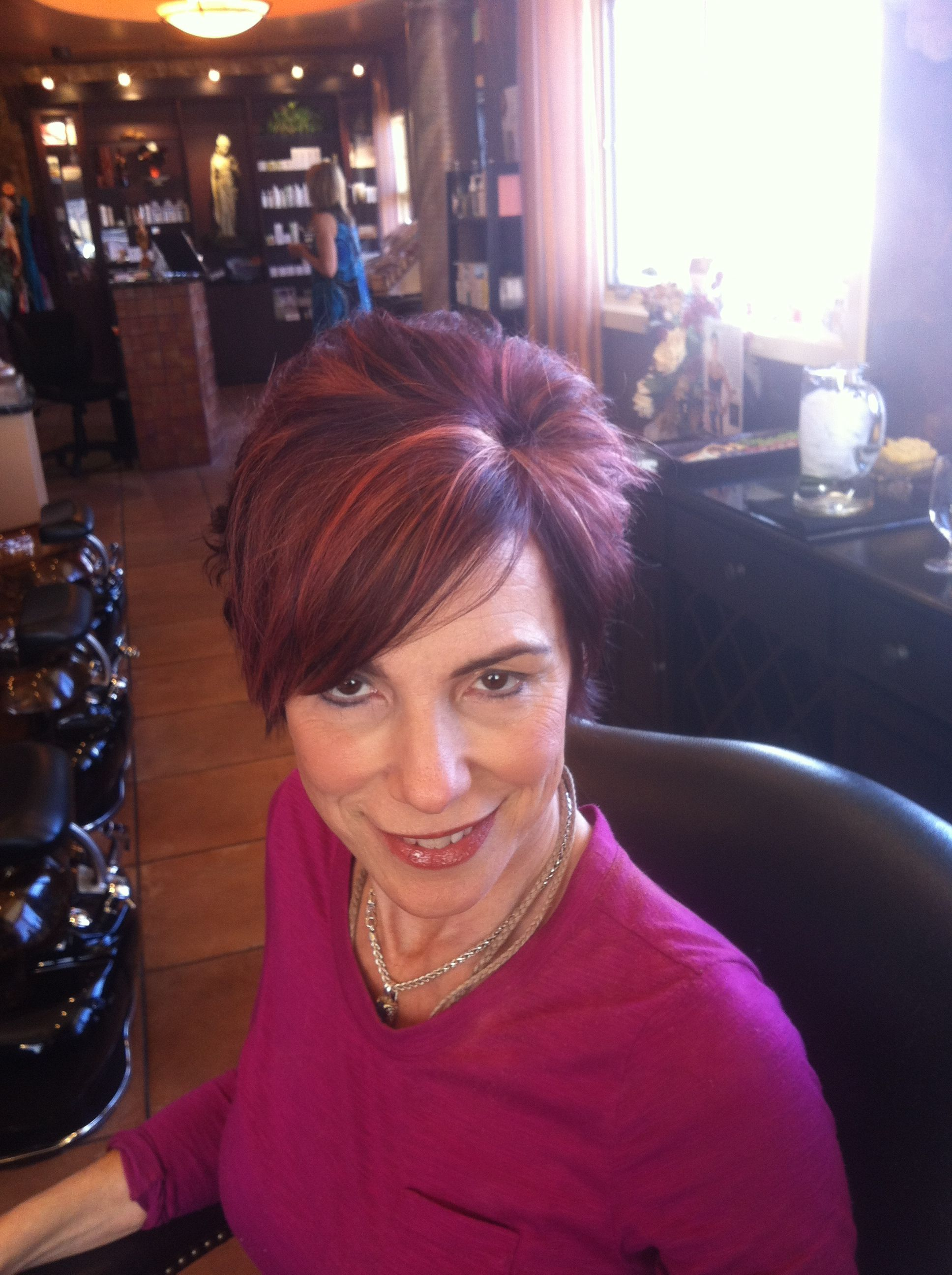 Fun Red With Highlights Hair Color Done By Erin Athena Hair