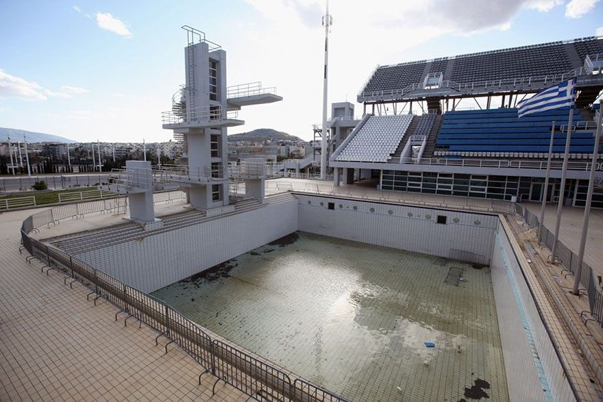 Diving Pool Athens Summer Olympics Venue Abandoned Olympic - 30 haunting images abandoned olympic venues
